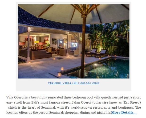 Click Image to proceed to Binggo Bali Villas website for more information.